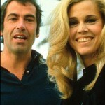 Jane with first husband, film director, Roger Vadim in 1969.