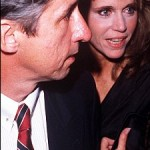 Jane with second husband, politician, Tom Hayden in 1989.