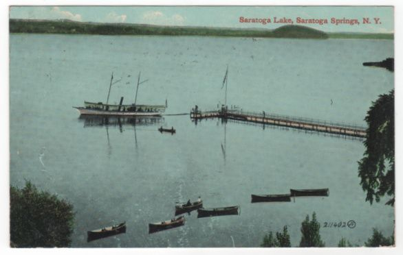Saratoga Lake Postcard 1914